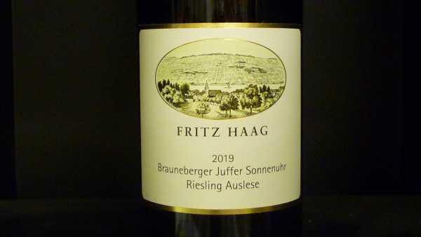 Fritz Haag Brauneberger Juffer Sonnenuhr Riesling Auslese 2019 -Restmenge-