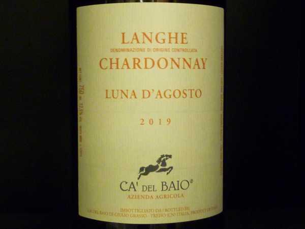 Chardonnay Langhe Luna de Agosto Ca del Baio 2019