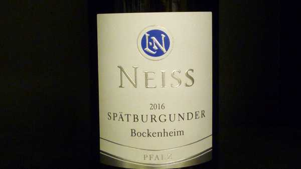 Neiss Spätburgunder tocken Bockenheimer 2016