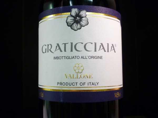 Vallone Graticcaia Rosso 2012