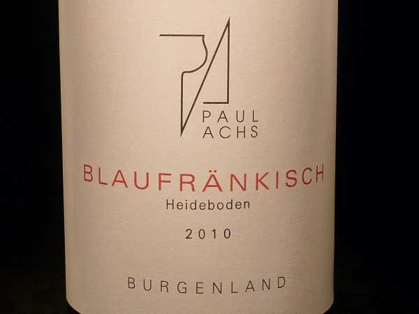 Achs Paul Blaufränkisch Heideboden 2016