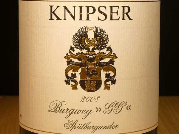 Knipser Spätburgunder Burgweg Großes Gewächs Großkarlbach 2014 -Restmenge-
