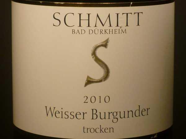 Schmitt Weisser Burgunder trocken 2017