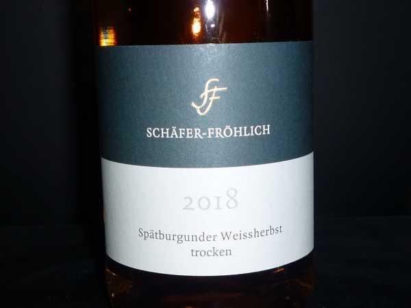 Schäfer-Fröhlich Spätburgunder Weissherbst trocken 2018