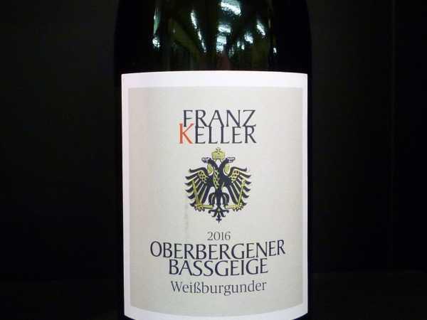 Franz Keller Oberbergener Baßgeige Weißburgunder 2018 VDP.Erste Lage
