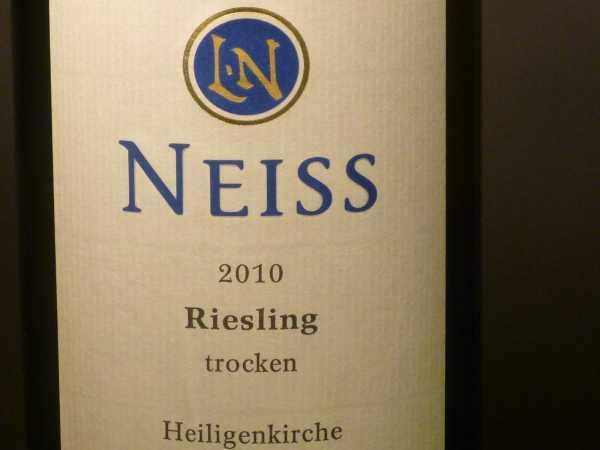 Neiss Riesling Heiligenkirche trocken 2016 -Restmenge-