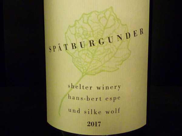Shelter Winery Spätburgunder Kenzingen 2017