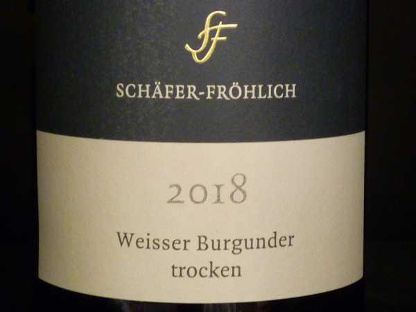 Schäfer-Fröhlich Weisser Burgunder 2018 trocken