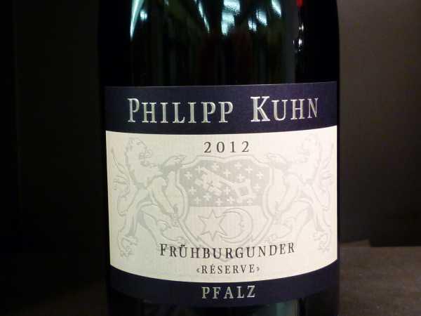Philipp Kuhn Frühburgunder Réserve 2013