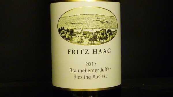 Fritz Haag Brauneberger Juffer Riesling Auslese Goldkapsel 0,375l 2019 Restmenge