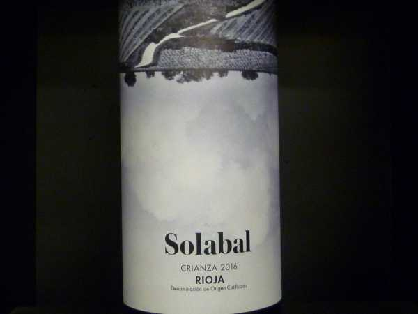 Solabal Crianza Rioja Alta Bodegas y Vinedos Solabal 2016