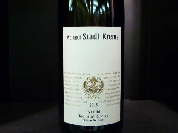 Stadt Krems Kremstal dac Reserve Grüner Veltliner Stein 2016 -Restmenge-