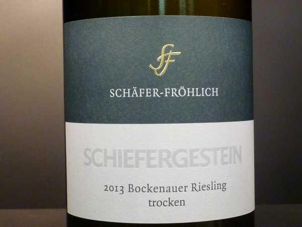 Schäfer-Fröhlich Bockenheimer Schiefergestein Riesling trocken 2018
