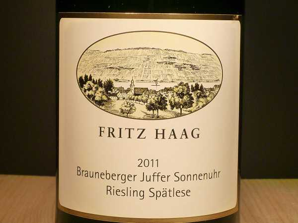 Fritz Haag Brauneberger Juffer Sonnenuhr Riesling Spätlese 2017