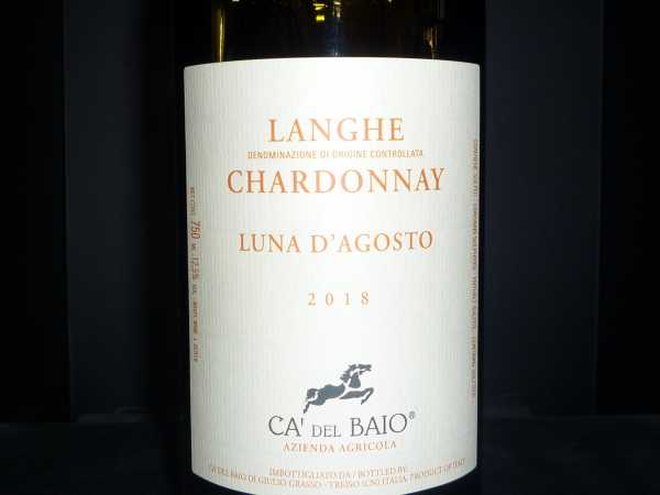 Chardonnay Langhe Luna de Agosto Ca del Baio 2018