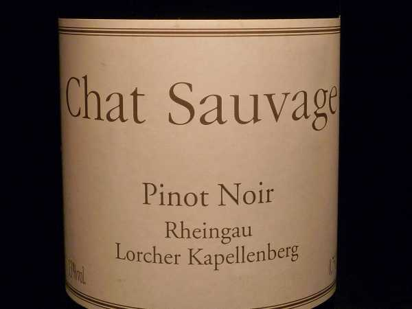 Chat Sauvage Pinot Noir Lorcher Kappellenberg 2013