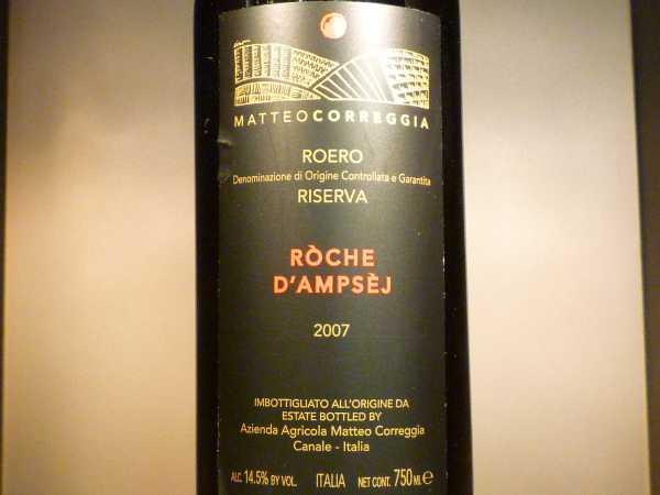 Roero Roche d'Ampsej Riserva Correggia 2013
