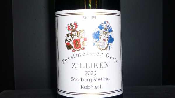 Forstmeister Geltz Zilliken Saarburg Riesling Kabinett 2020
