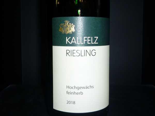 KALLFELZ Riesling Hochgewächs feinherb 2018