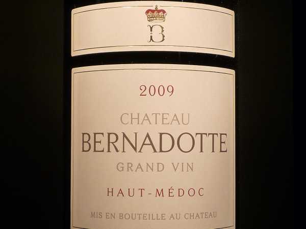 Chat. Bernadotte Haut-Médoc 2011