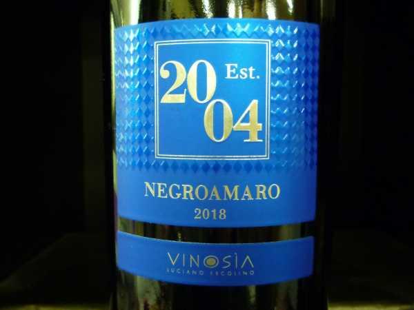Vinosia Negroamaro Salento Est. 2004 2018