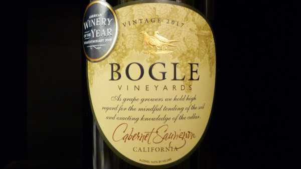 Bogle Vineyards Cabernet Sauvignon California 2017